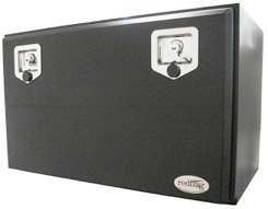 Black powder coated steel truck tool box  part # TB014