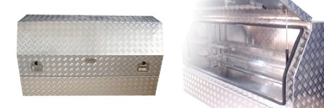 3/4 Lid Gullwing  - Aluminium Checker Plate